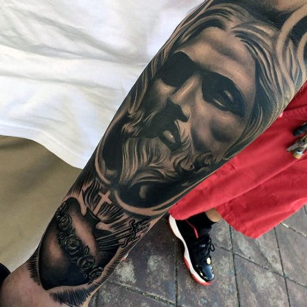 Tattoo Designs Jesus: 50 Jesus Forearm Tattoo Designs For Men