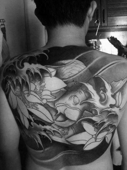 Remarkable Arowana Tattoos For Males On Back