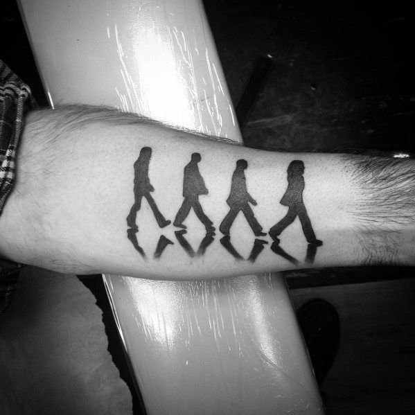 50 Beatles Tattoos For Men - English Rock Band Design Ideas