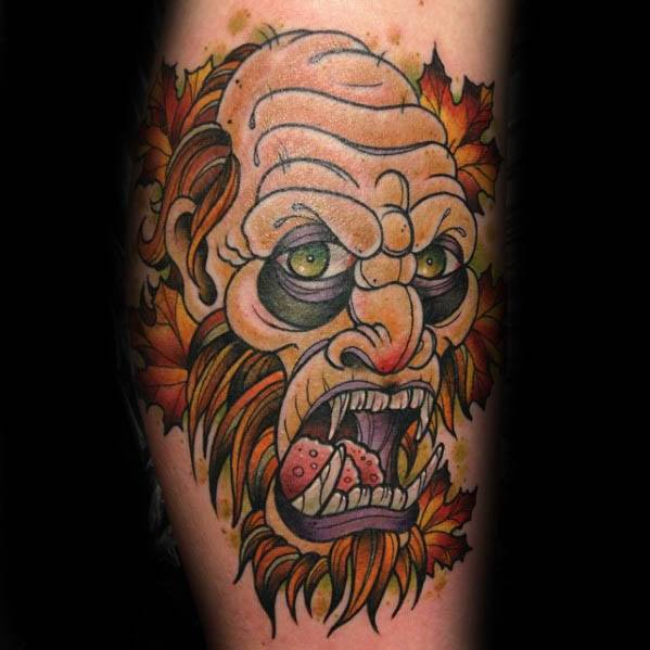 Remarkable Bigfoot Tattoos For Males