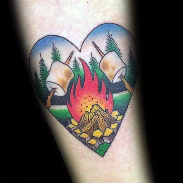 Remarkable Campfire Tattoos For Males