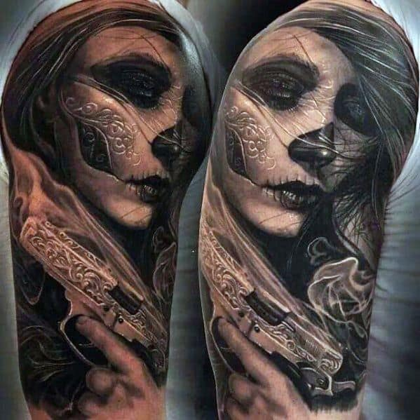 Remarkable Catrina Tattoos For Males