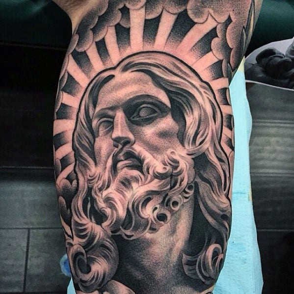 Remarkable Chicano Style Arm 3d Jesus Tattoos For Males