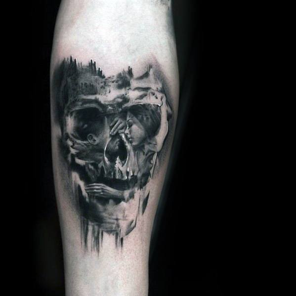 Remarkable Double Exposure Tattoos For Males