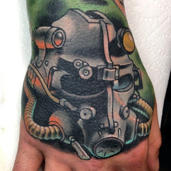 Remarkable Fallout Tattoos For Males On Hand