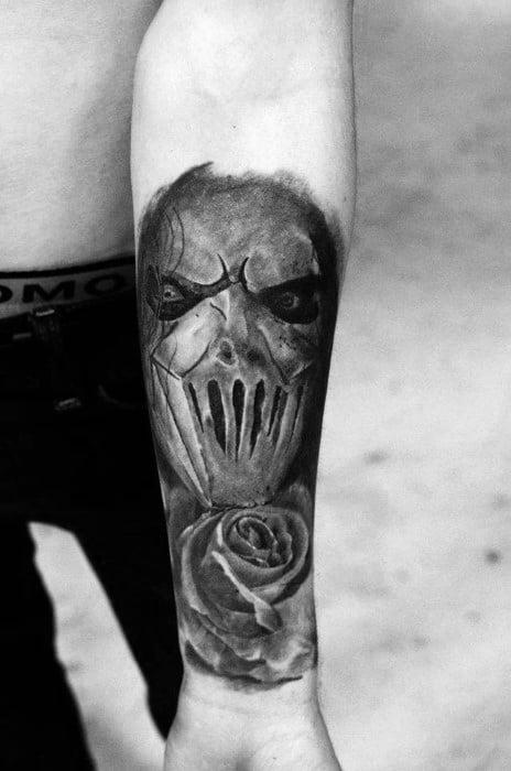 Remarkable Forearm Sleeve Slipknot Tattoos For Males
