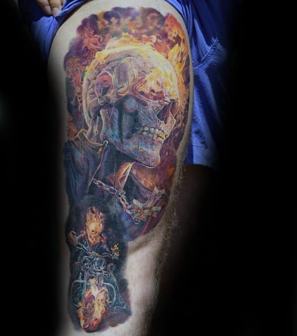 Remarkable Ghost Rider Tattoos For Males