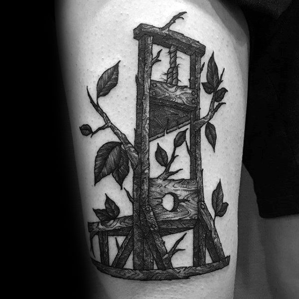 Remarkable Guillotine Tattoos For Males
