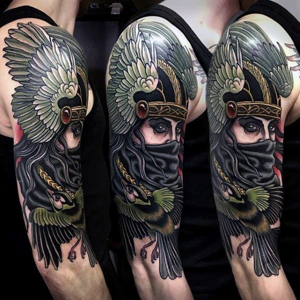 Remarkable Half Sleeve Valkyrie Tattoos For Males