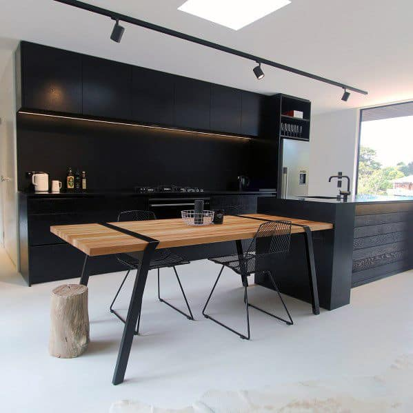 Remarkable Ideas For Black Kitchen Cabinet