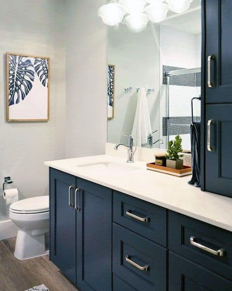 Remarkable Ideas For Blue Bathroom