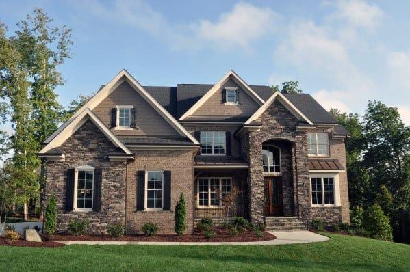 Top 50 Best Brick And Stone Exterior Ideas Cladding Designs