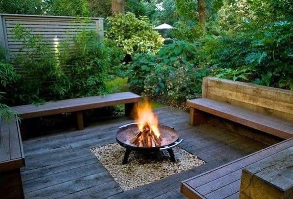 Top 50 Best Deck Fire Pit Ideas Wood Safe Designs
