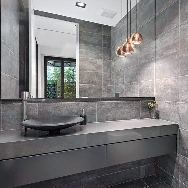 Remarkable Ideas For Grey Bathroom Tile