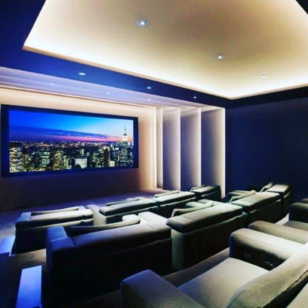 Tips For Home Theater Room Design Ideas: Top 40 Best Home Theater Lighting Ideas