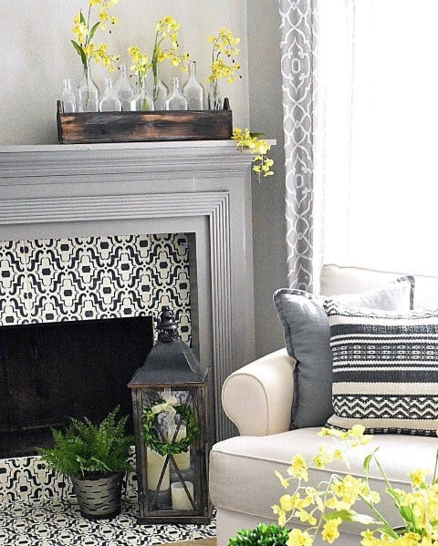 Remarkable Ideas For Painted Fireplace
