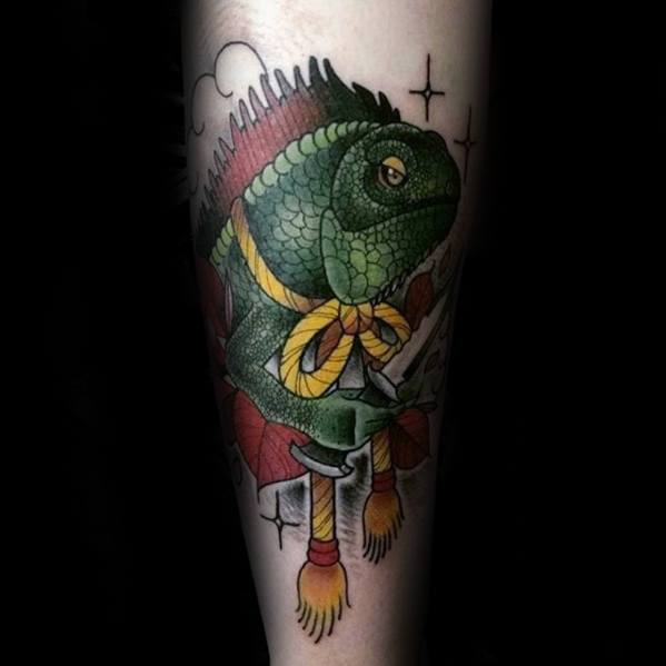 Remarkable Iguana Tattoos For Males