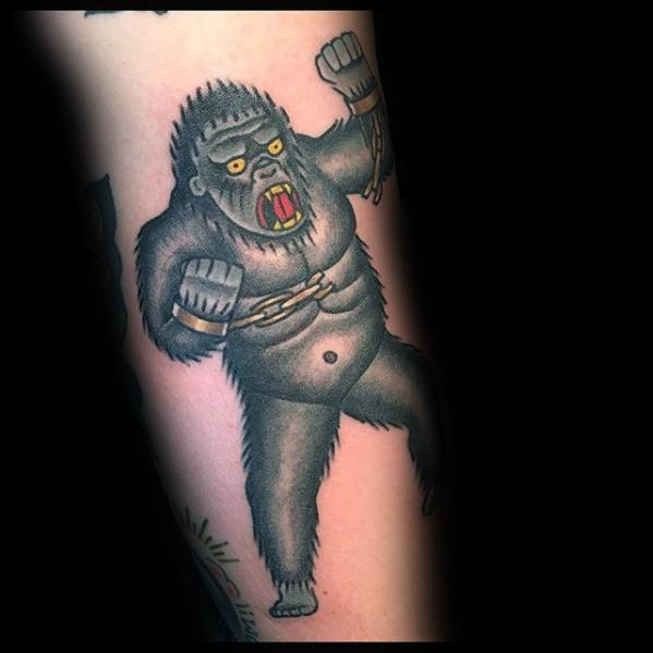 Remarkable King Kong Tattoos For Males