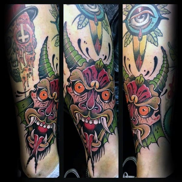 Remarkable Krampus Tattoos For Males