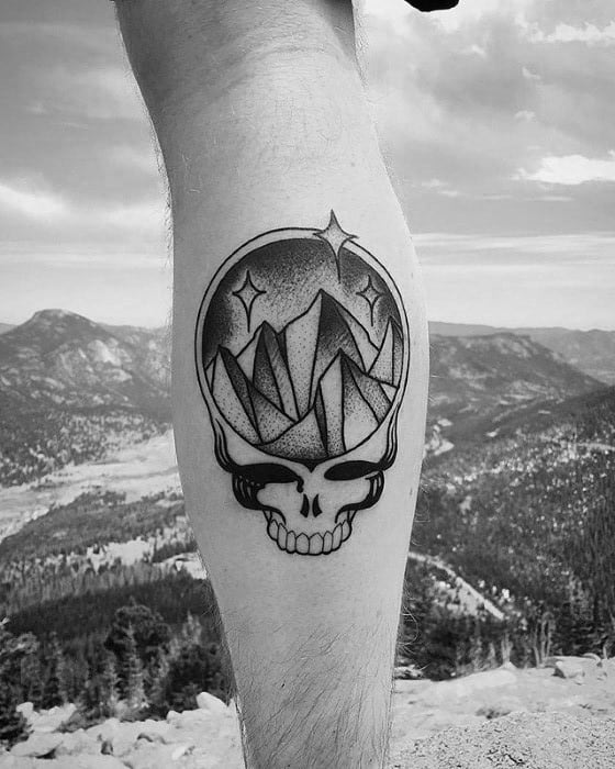 Remarkable Leg Calf Grateful Dead Tattoos For Males
