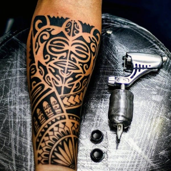 Remarkable Maori Inner Forearm Tattoo On Gentleman
