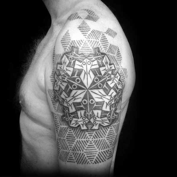 Remarkable Mc Escher Tattoos For Males
