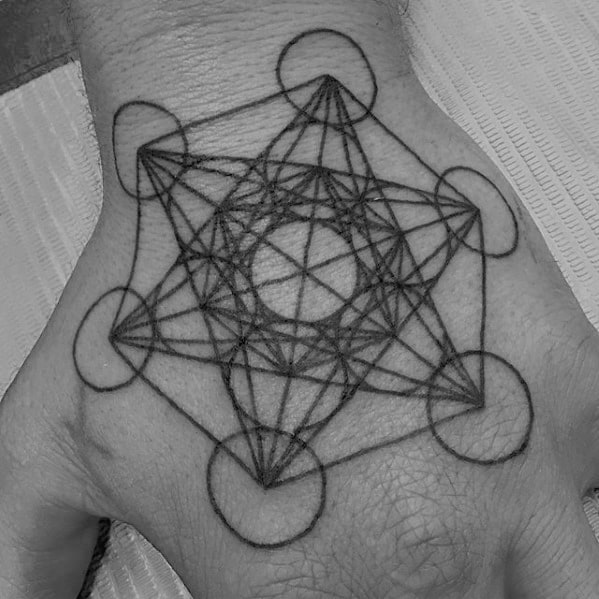 Remarkable Metatrons Cube Tattoos For Males