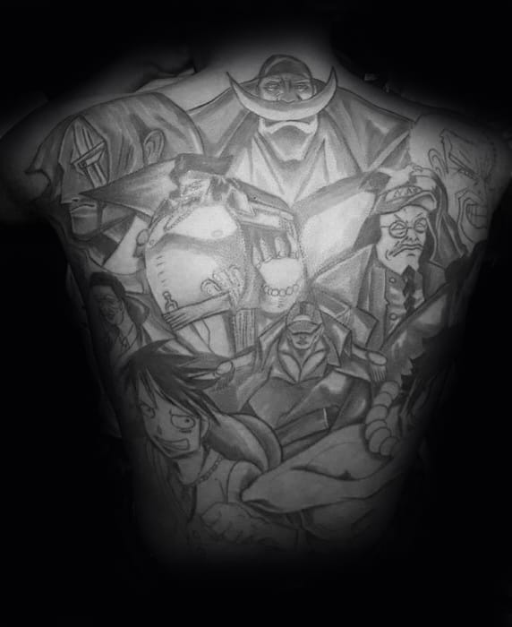 Remarkable One Piece Tattoos For Males