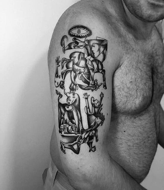 Remarkable Pablo Picasso Tattoos For Males Arm
