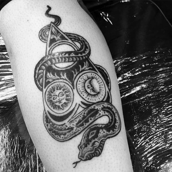 Remarkable Planchette Snake Leg Tattoos For Males
