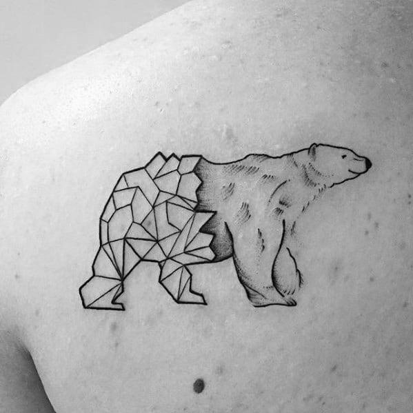 Remarkable Polar Bear Shoulder Geometric Animal Tattoos For Males