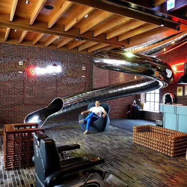 Remarkable Polished Steel Indoor Slides