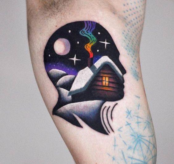 Remarkable Psychedelic Trippy Tattoos For Males