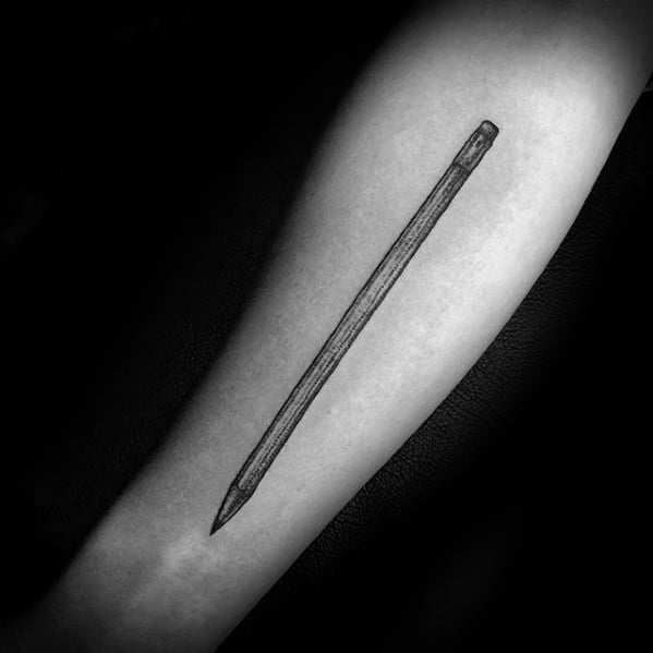 Remarkable Shaded Inner Forearm Pencil Tattoos For Males