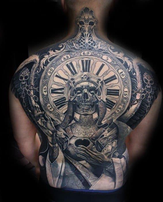 Remarkable Skull Back Tattoos For Males