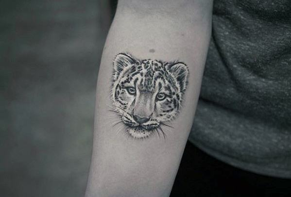 Remarkable Snow Leopard Tattoos For Males