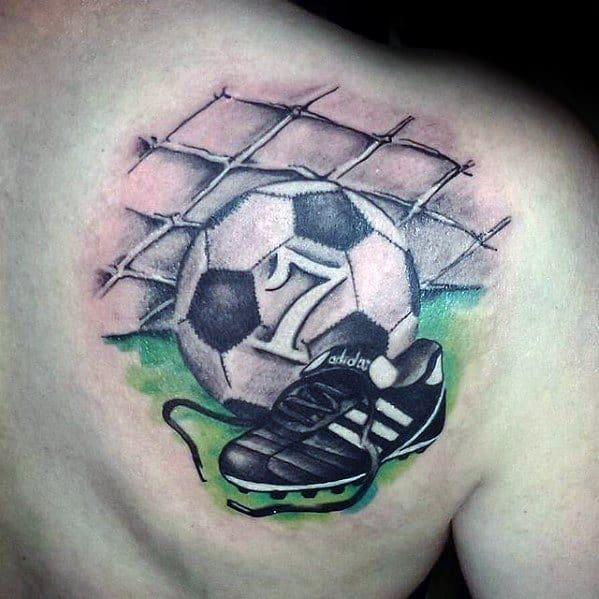 Remarkable Soccer Shoulder Sports Tattoos For Males