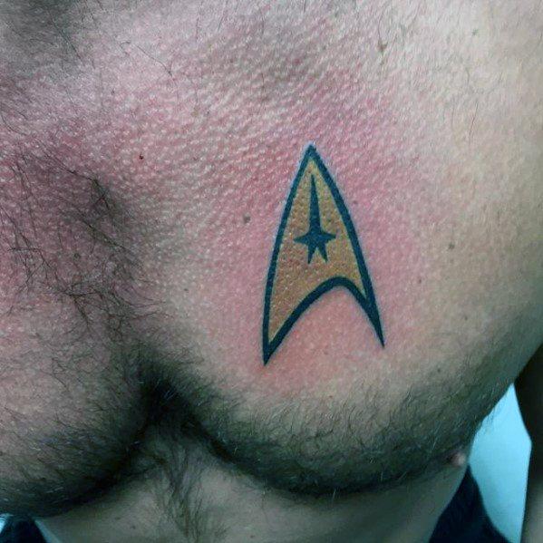 Remarkable Starfleet Insignia Star Trek Tattoos For Males On Upper Chest