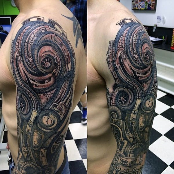 Remarkable Steampunk Tattoo Mens Sleeves
