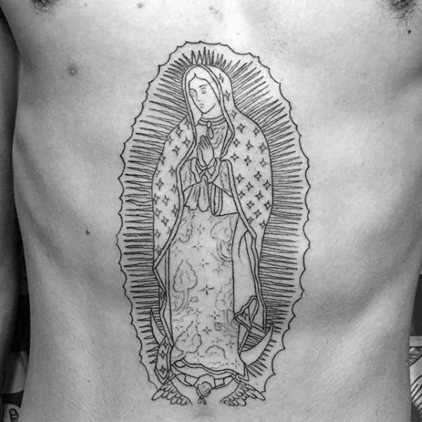 Remarkable Stomach Guadalupe Tattoos For Males