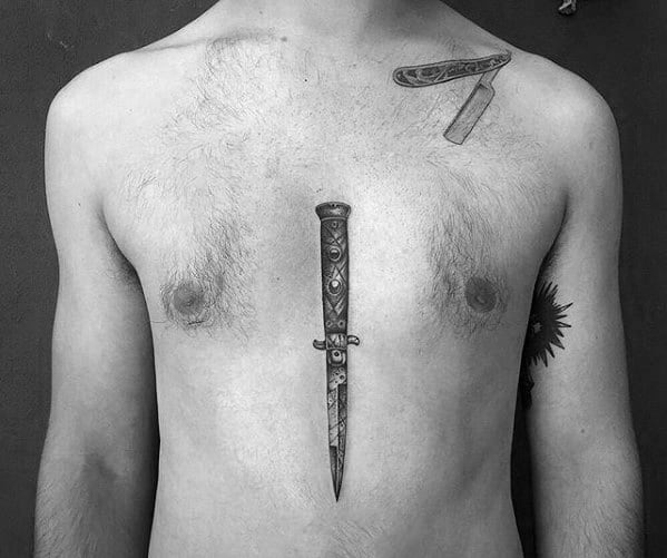 Remarkable Switchblade Tattoos For Males