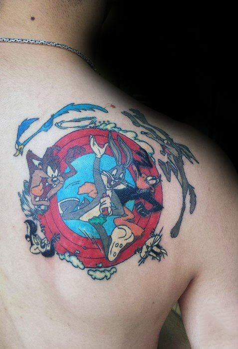 Remarkable Tasmanian Devil Tattoos For Males Shoulder Blade