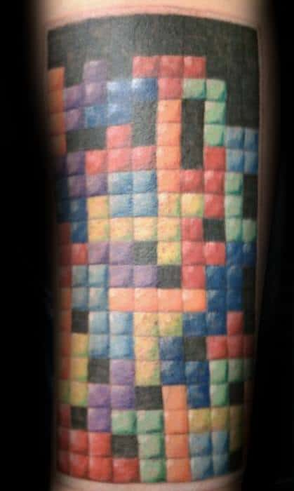 Remarkable Tetris Tattoos For Males