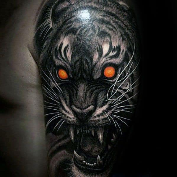 Remarkable Tiger Eyes Tattoos For Males