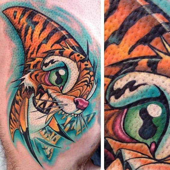Remarkable Tiger Shark Tattoos For Males