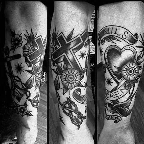 Remarkable Traditional Cross Tattoos For Males