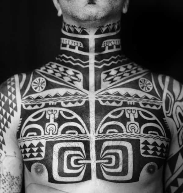 Remarkable Tribal Neck Tattoos For Males
