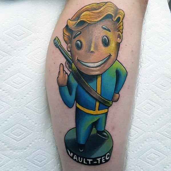 Remarkable Vault Boy Tattoos For Males