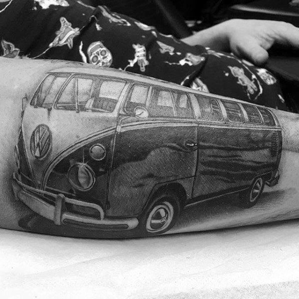 Remarkable Volkswagen Wv Tattoos For Males