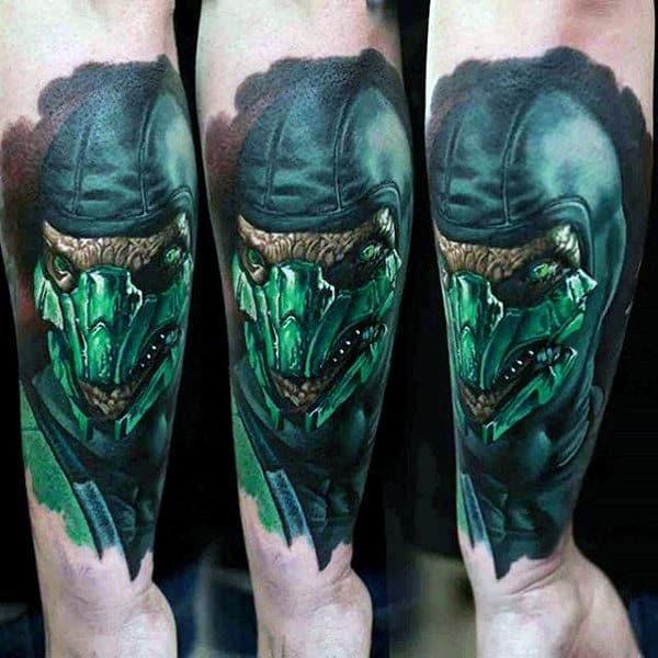 Reptile Mortal Kombat Tattoos